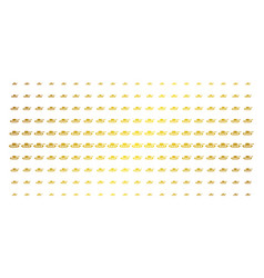 Military tank gold halftone grid vector