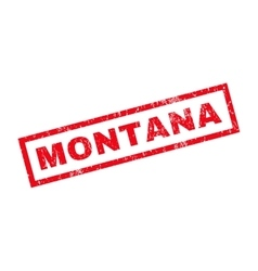 Montana Rubber Stamp vector