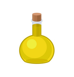 oil in a glass bottle on a vector image