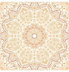 Ornamental lace pattern circle background with vector