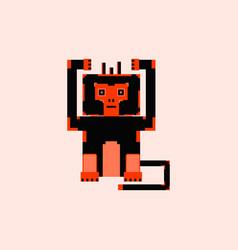 Pixel monkey vector