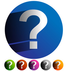 Question mark icon for related themes support vector