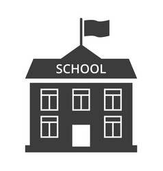 school flat icon on white background vector image