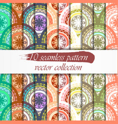 seamless abstract geometric pattern set seamless vector image