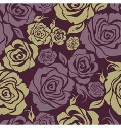 Seamless vintage flower rose pattern vector