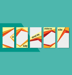 set of abstract backgrounds material vector image