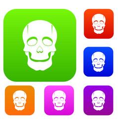 Singer mask set color collection vector