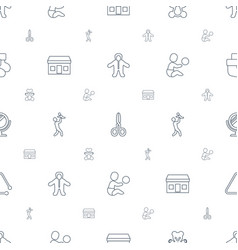small icons pattern seamless white background vector image