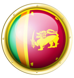 Sri lanka flag on round icon vector