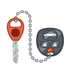 thieves protection car alarm key anti-theft flat vector image