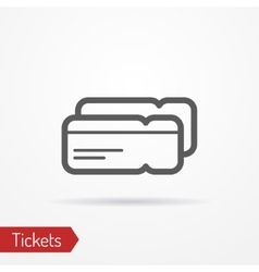 Ticket silhouette icon vector image