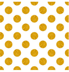 tile pattern with big golden polka dots on white vector image