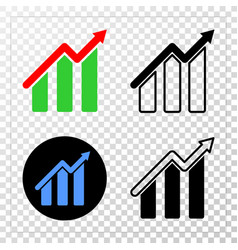 trend chart eps icon with contour version vector image