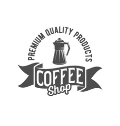 vintage coffee badge logotype vector image