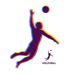 volleyball athlete in action sport symbol design vector image
