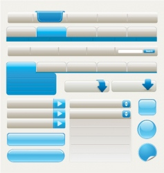 website design elements | blue vector image