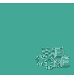 Welcome Text Design Template vector