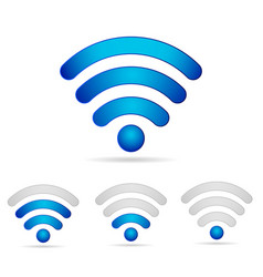 wifi 3d icons set vector image vector image