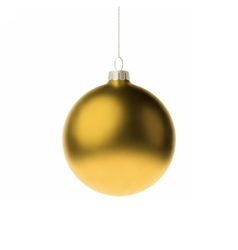 Yellow 3d christmas Bauble vector