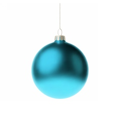 Blue 3d christmas Bauble vector image