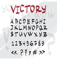 hand drawn graffiti latin alphabet vector image