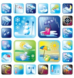icons meteo vector image vector image