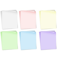 Papers in different colors vector image vector image