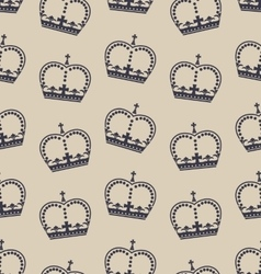 Seamless Wallpaper Representing the Crown of the vector image