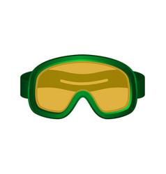 ski sport goggles in dark green design vector image vector image
