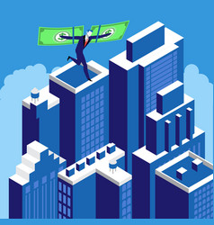 financial independence business success concept vector image