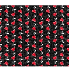 Holiday Hearts Seamless Pattern vector image