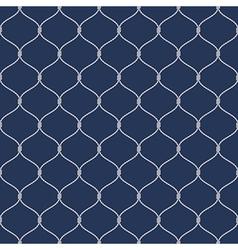 Nautical rope seemless fishnet pattern on dark vector image