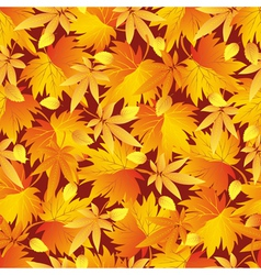 Seamless pattern texture with autumn leaf vector image