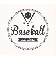 Baseball Label vector image