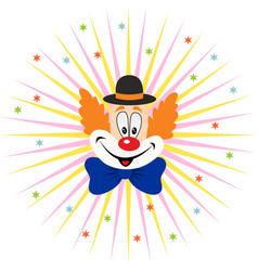 cartoon clown face vector image