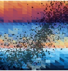 spotted triangles colorful background vector image
