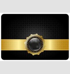 Black vip card vector image