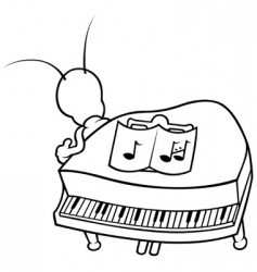 bug and piano vector image