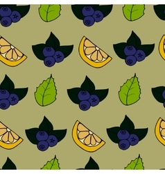 Cartoon seamless pattern with berry vector image
