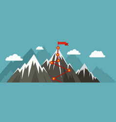 mountain route banner flat style vector image vector image