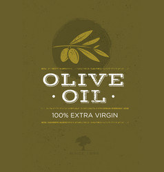 organic olive oil rough on vector image