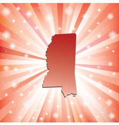Red Mississippi vector image vector image