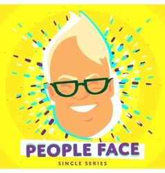 Smiling people face vector image vector image