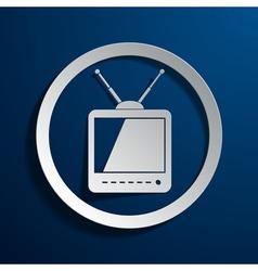 TV icon vector image vector image