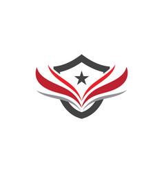 wing logo template icon design vector image vector image