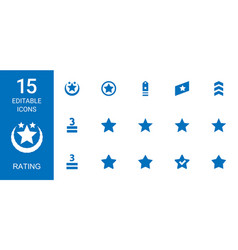 15 rating icons vector image
