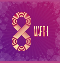 8 march day holiday vector