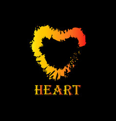 abstract heart image vector image