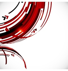 Abstract red and black circles background vector image