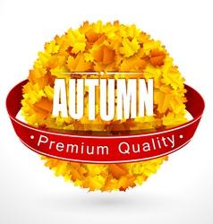Autumn emblem vector image